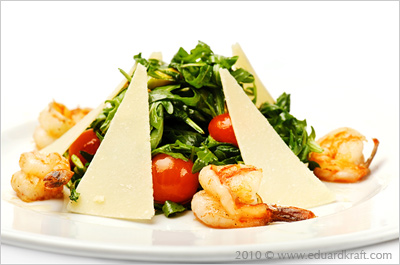 Food shrimp salad
