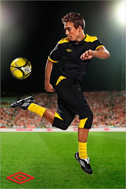 Рекламная фотосъемка для Umbro